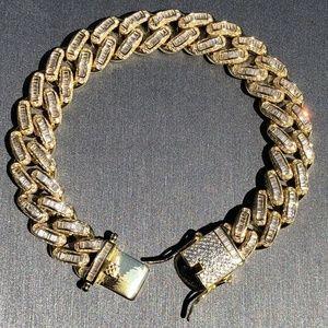 Cuban Miami Link Bracelet 14k Gold Solid 925